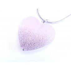 Přívěsek Stella srdce - rozalinit - velikost L