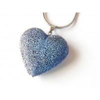 Přívěsek Stella srdce - safír - velikost L